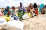 Somali Children Protecting Their New Supply of Food!