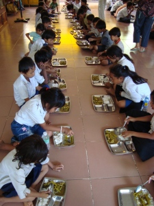 The Feeding Program in Cambodia.