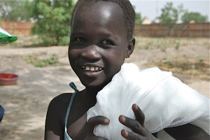 A Grateful Sudanese Child who has been shown Kindness & Compassion by CHRF Donors!!