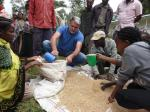 Board Director Dr. Monte E. Wilson helps to deliver food to over 5,000 children and villagers in Ethiopia.