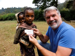 CHRF Board Director Dr. Monte E. Wilson as he brings your love and support to the children of Ethiopia.