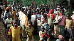 The families quickly gather when they hear the CHRF team has come bringing help & hope.