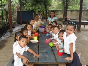 Only A Few of the hundreds of Happy & Grateful Children that CHRF helps to provide meals for 5 days a week!