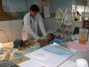 The Doctors and Volunteers provide the much needed medical attention to the children.