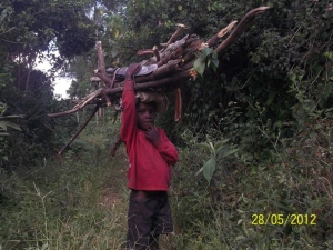 Young children in Uganda are many times forced to quit school and work in physical labor to supper their families