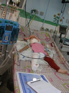 Heart-breaking images of the children in critical care.