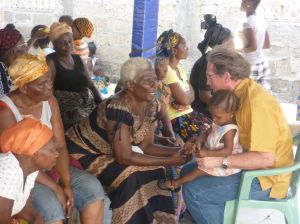 Ken speaking with the refugee women and mothers who have kept their hope alive despite all their suffering.