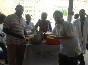 Brant & CHRF Partners team together to provide meals for the children.