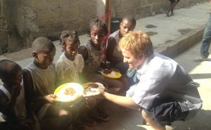 Brant providing Christmas Meals to hungry children in Ghana thanks to CHRF donors.