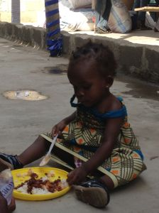 This Baby-Girl was crying out of hunger. Now, thanks to CHRF Donors and our partners she has a meal to fill her stomach.