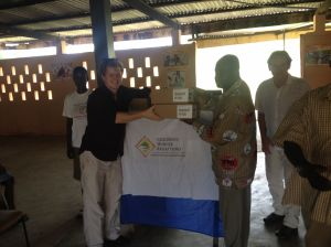 The CHRF team presents much needed medication to local clinics in Ghana.