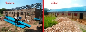 The new building in Uganda before and after completion!