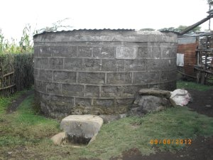 One of the many water tanks in Kenya that CHRF created last year!