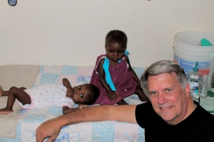 Dr. Wilson visits with many of the children in the hospital in Haiti.