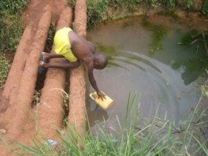 We can't let this child and many like him drink dirty water that could cause a deadly illness!