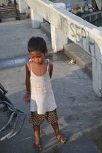 One of the little boys who will beg for anything most of the day and sleep on the street because it is nicer then his home.