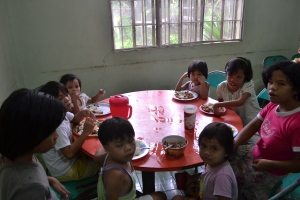 A snapshot of another one of our CHRF sponsored feeding programs in the Philippines.
