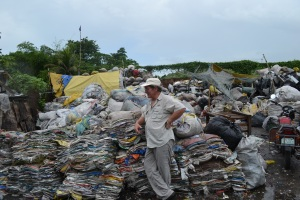 One of the garbage dumps that people have created villages around in the Philippines.