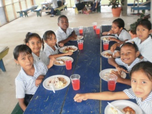 More of the school children in Belize enjoying their lunches provided with the generous help of our CHRF Donors!