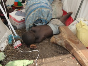 Children like this young boy were mercilessly abandoned when the orphanage shut down.