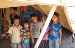 These children, with their family, were caught up in an attack and forced to flee. They are traumatized by what they have seen, they cannot sleep according to their father, kept up by reliving the nightmare of seeing their friends and people killed.