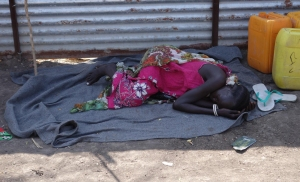 One Inncoent Child who is now victim of this war. Totally seperated from her family if they are alive, utterly lost and alone. Sadly this is now the Story in South Sudan for Thousands of Children.