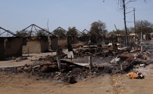Houses and Churches have been burnt to the ground as a result of the intense fighting.