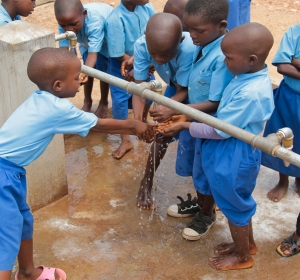 These children can now stay and learn in school with the new local water supply! What an incredible sight!