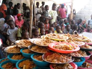 Look At All Of The Food! With Your Help CHRF Can Help Our Partners In Haiti Feed Hungry Children!