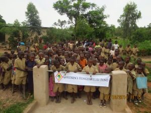 Many Children celebrate the help of CHRF to help them in school and build clean water!