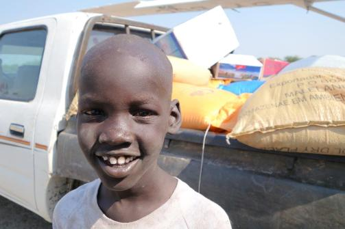 Another child who still is able to put on a wonderful smile despite what he has gone through living in South Sudan