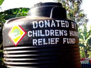 One of many new water tanks in Kenya created with the help of CHRF Donors like you!