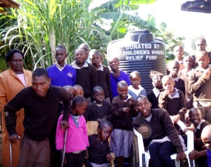 Another great clean water well serving a school for children with mental and physical disabilities in Kenya.