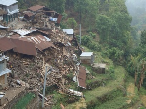 Imagine your home village, sliding off of a mountain as the mountain itself has fallen down.