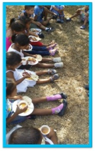 One small photo of our new feeding program in Honduras.