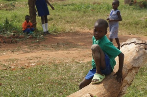 One of the one hundred and sixty children that now is getting an education in Uganda!